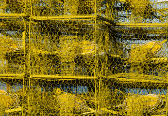 Crab Traps on the Maryland Bay