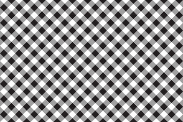 Black white checkerboard check diagonal seamless background