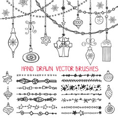 Christmas garland brushes,balls set
