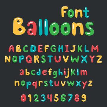 Balloons font Alphabet