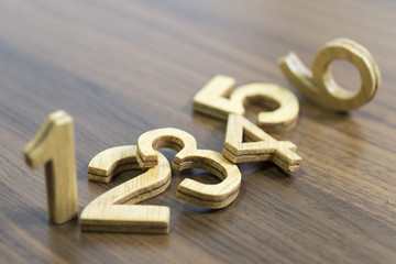 Números de madera