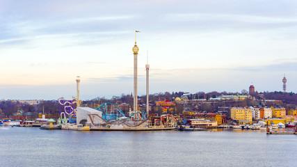 Grona lund attraction park in Stockholm,Sweden.