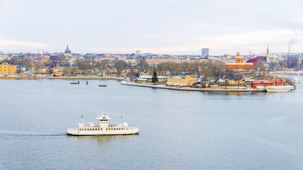 panorama of Stockholm in winter