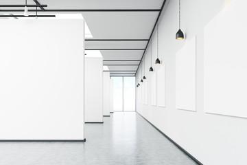 Art gallery corridor