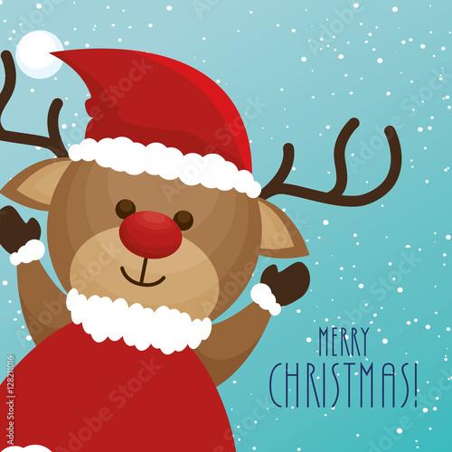 reindeer animal christmas icon vector illustration design