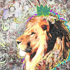 Графический рисунок льва