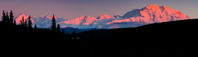 Sunset Alpenglow on Mt Denali