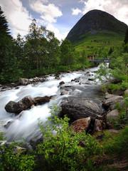 Trollstigen  fast flowing water