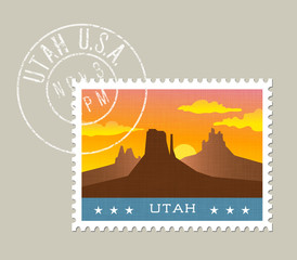 Utah postage stamp design. 
