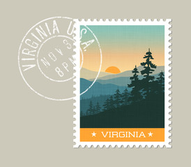 Virginia, postage stamp design. 