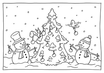 Ausmalbild Weihnachten