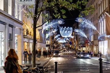 Christmas lights 2016 in Mayfair, London Fotomurales
