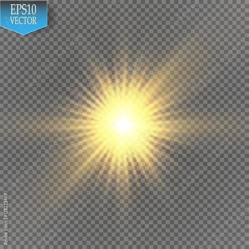 Glow Light Effect Star Burst With SparklesSun