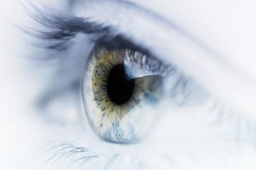 Fond de hotte en verre imprimé Iris Artistic Eye