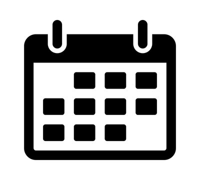 Calendar or appointment schedule flat icon icon for apps and websites