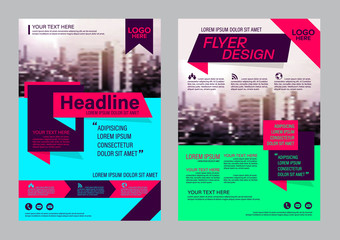 Modern Brochure Layout design template. Annual Report Flyer Leaflet cover Presentation background. illustration vector in A4 size