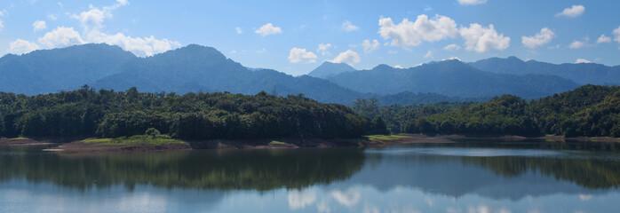 landscape view on waduk palasari lake,Bali,Indonesia
