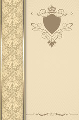 Decorative vintage background or cover-book design.