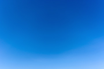 Clear azure sky without clouds. Sky background.
