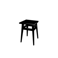 tabouret. black and white vector object