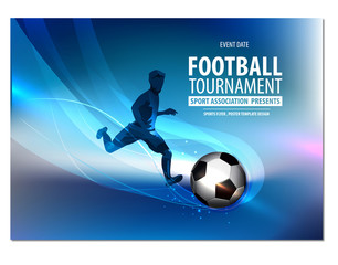 Football party, football championship, football tournament, college league. Soccer Action player.