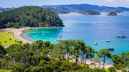 View on Bay of Islands New Zealand