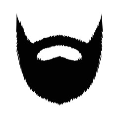 Large full beard with mustache and goatee flat icon for apps and websites