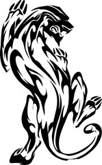 tribal-panther design for tattoo