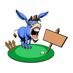 Vector illustration of a Democrat Donkey