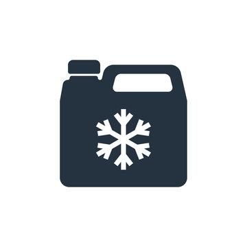 antifreeze jerrycan,  isolated icon on white background, auto se