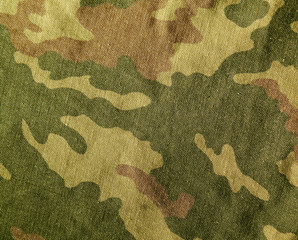 Camouflage textile cloth texture