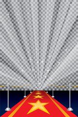 starburst trans red carpet