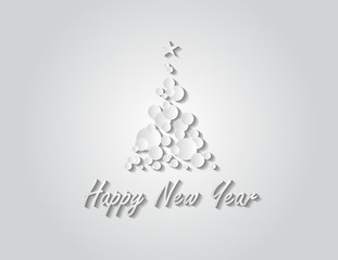 Happy New Year tree background vector