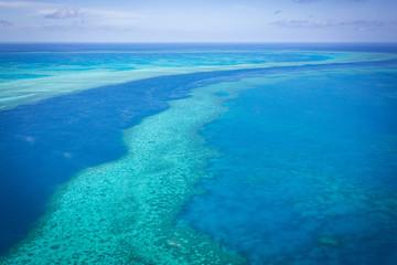 Great Barrier reef from above, Queensland, Australia