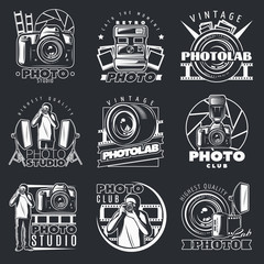 Photo Studio Emblems Set
