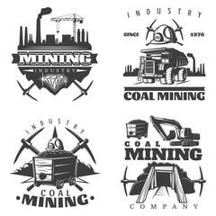 Mining Emblem Designs Set
