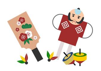 日本のお正月遊び イラスト