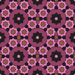 Arabian geometric colorful pattern 21