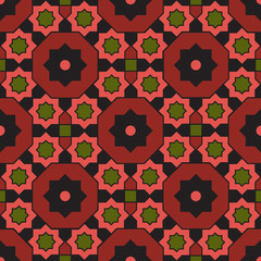 Arabian geometric colorful pattern 20