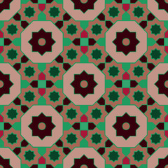 Arabian geometric colorful pattern 01