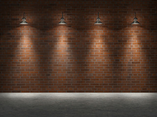 wall bricks; 3d illustration