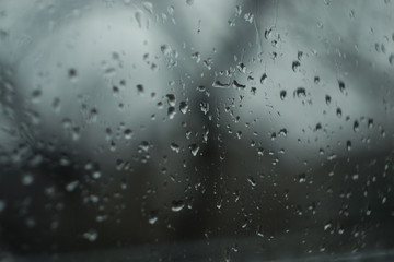 Misted window drops