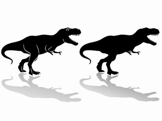 silhouette of a tyrannosaurus. vector drawing