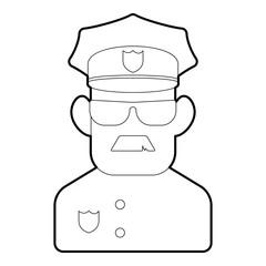 Policeman icon. Outline illustration of policeman vector icon for web design