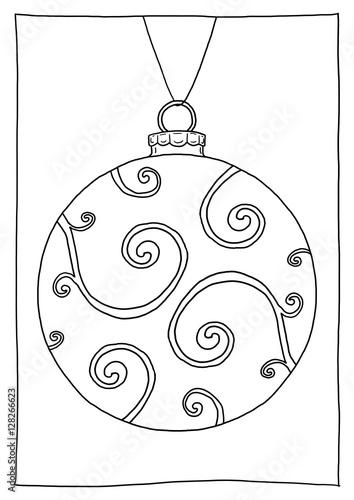 """ausmalbild christbaumkugel ornamente"" stockfotos und"