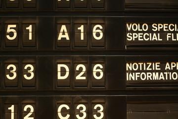 Airline schedules board