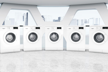 Search photos washhouse row of industrial modern washing machines in a public washhouse malvernweather Choice Image