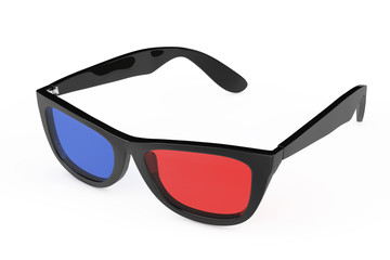 3D Glasses in Retro Style. 3d Rendering