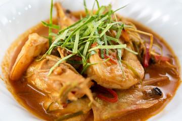 shrimp or prawn massaman curry
