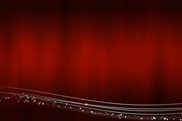 Abstract red background with the light lines at the bottom